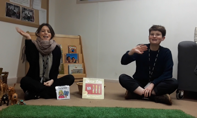 Video: Thea and Billie Read Dear Zoo
